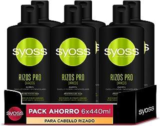 Syoss Rizos Pro Champú para Cabello Rizado y Encaracolado - 6 Unidades de 440 ml Total: 2640 ml