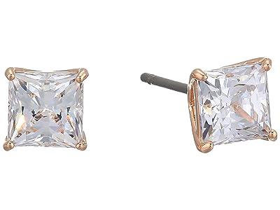 Swarovski Attract Square Stud Pierced Earrings (CZ White 1) Earring