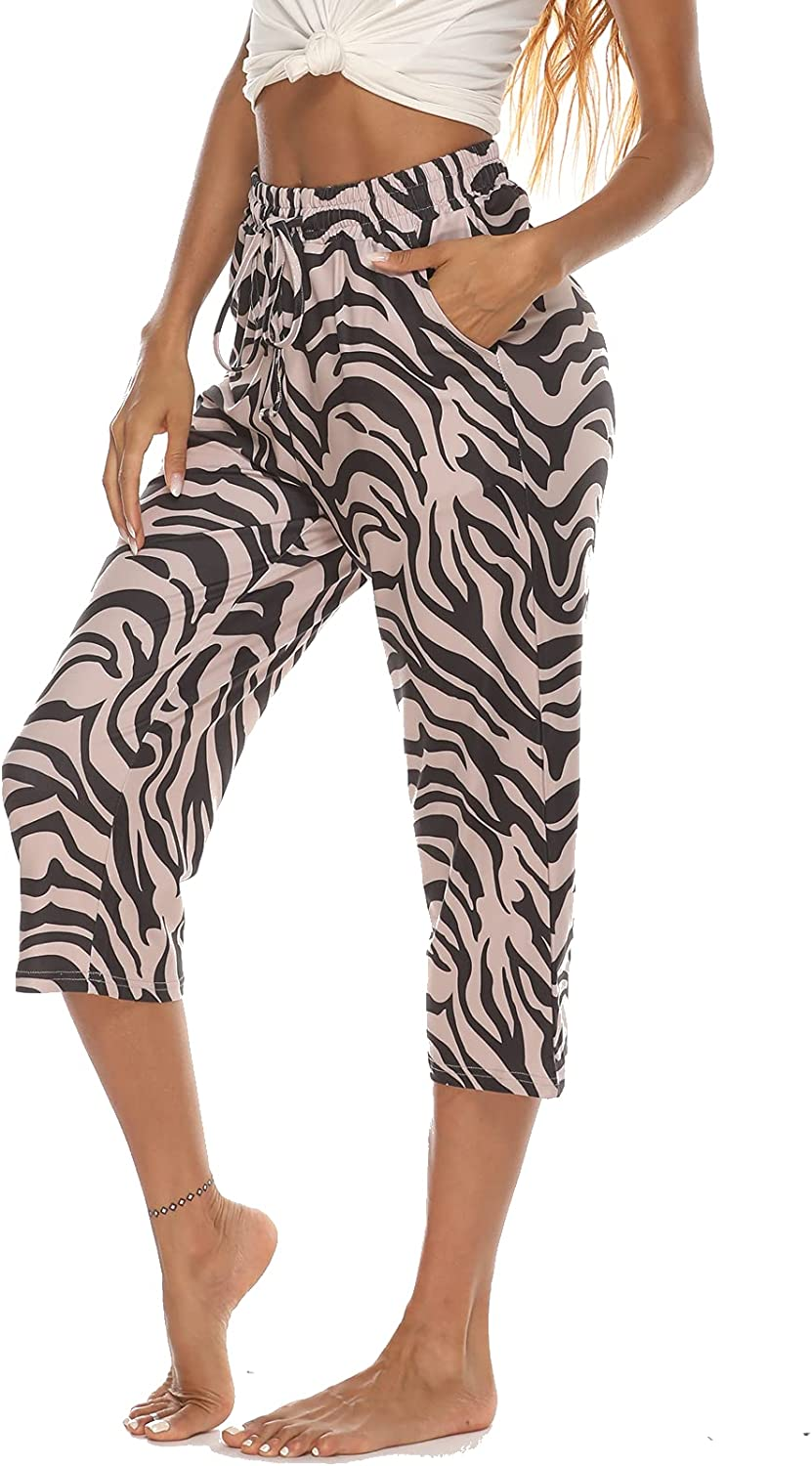 quality assurance ARRIVE GUIDE Womens Yoga Capri Pants Summer Raleigh Mall Comfy C Casual Loose