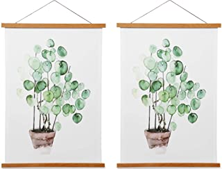 Magnetic Poster Frame Hanger, Natural Teak, 12x18 12x16 12x24 Poster Hanger for Photos, Pictures, Prints, Maps, Scrolls an...