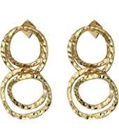 Alexis Bittar - Crystal Encrusted Coil Link Dangling Post Earrings