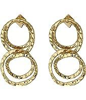 Alexis Bittar - Crystal Encrusted Coil Link Dangling Post Earrings