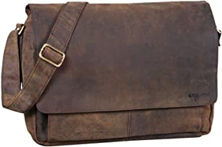 """STILORD Lonzo"""" Vintage Umhängetasche echtes Büffel-Leder Messenger Bag für Herren und Damen Unitasche Büro Business Studium Leder"""