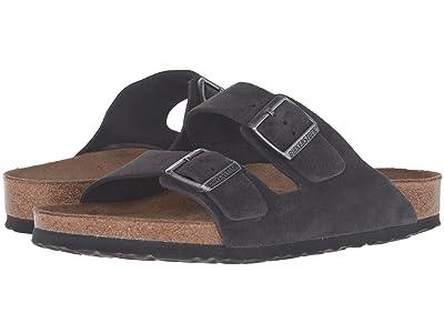 Birkenstock Arizona Soft Footbed Suede (Unisex) (Velvet Grey Suede) Sandals