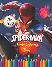 Marvel Spider-man Jumbo Coloring Book Age 3-12: Spiderman Jumbo Coloring Book: Great Coloring Book for Kids and Any Fan of Spider-Man (Perfect for Children Ages 4-12)