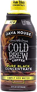 JAVA HOUSE Cold Brew Coffee, Colombian, Liquid 1:1 Concentrate, 32 Ounce Bottle