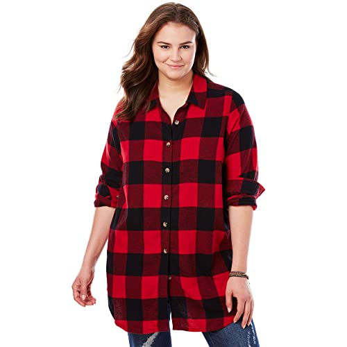 d0a905aed42 Woman Within Women s Plus Size Classic Flannel Shirt