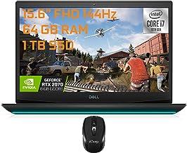 "Flagship Dell G5 15 Gaming Laptop 15.6"" FHD 144Hz 10th Gen Intel 6-core i7-10750H 64GB RAM 1TB SSD GeForce RTX 2070 Max-Q ..."