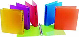 Filexec 3 Ring Binder, 1.5 Inch Capacity, Frosted, Letter Size, Pack of 6, Blueberry, Strawberry, Grape, Lemon, Lime, Tangerine (50160-6493)