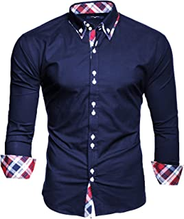 Kayhan Hombre Camisa Manga Larga Slim Fit S M L XL 2XL 3XL 4XL 5XL 6XL