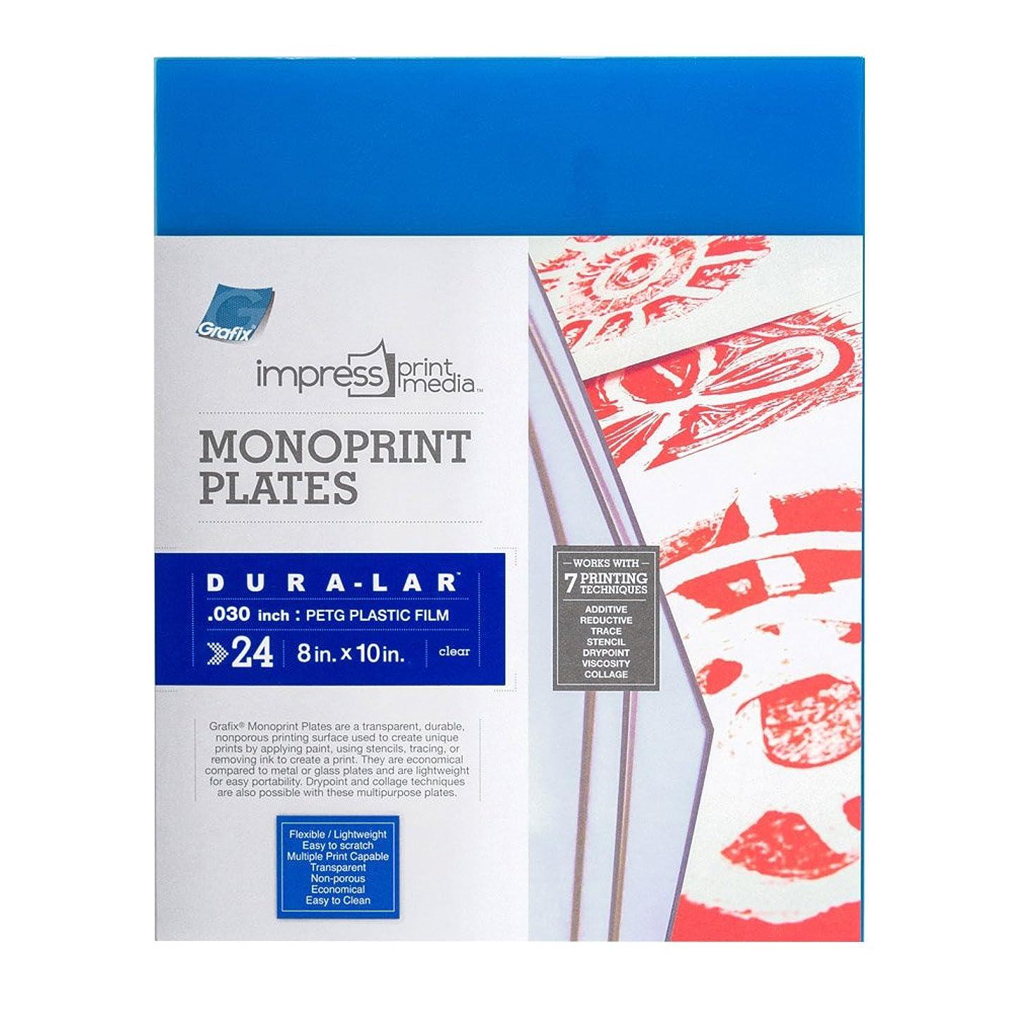 Grafix Impress Print Media Monoprint Plates (24 Pack), 8