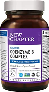 New Chapter Vitamin B Complex + Elderberry – Fermented Coenzyme B Complex (Formerly Coenzyme B Food Complex) with Vitamin ...