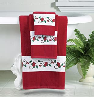 Collections Etc Holiday Printed Bath Towels - Set of 3
