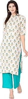 RAJMANDIRFABRICS Women's Cotton Flex Floral Print Straight Kurta & Palazzo Set