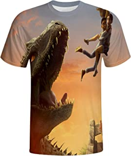 Kamado Tanji-Rou Men's Short Sleeve Casual Shirt Round Neck T-Shirt for Adult Youth Polyester Funny Shirttee Top.
