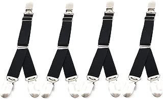 4 Pcs Multifuction Adjustable Elastic Stocking Clip Garter Suspender