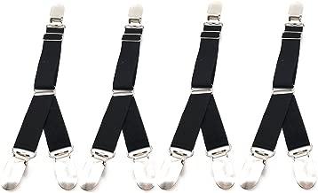 Outman 4 Pcs Multifuction Adjustable Elastic Stocking Clip Garter Suspender