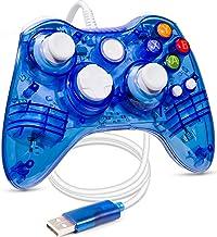 Luxmo Manette Filaire Xbox 360 Manette Filaire USB Xbox 360 Manette de Jeu Manette de Jeu Joystick Consoles pour Microsoft...