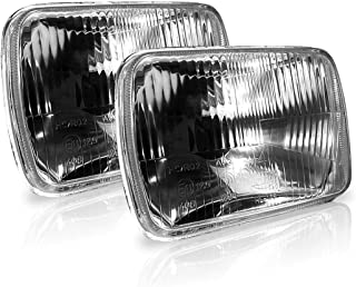 GENSSI H6054 7x6 Inch 200mm Headlights Uses H4 Bulbs Non-sealed H6014/h6052/h6054 (Pack of 2)