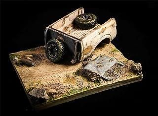 OSD 1/12 素体 フィギュア用 地台 シーン 道具 廃車 映画 ゲーム 荒廃 駐車場 置物 撮影 TWTOYS TW2139