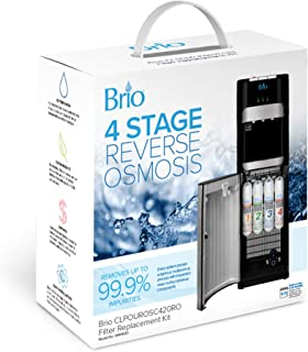 brio 4 Stage RO Water Cooler Filter Replacement Kit - for Model CLPOUROSC420RO