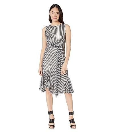 FUZZI Stripe Sleeveless Dress (Black) Women