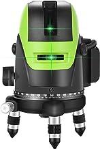 VAHIGCY 360 درجة دوران 5 خط ذاتي الليزر، أداة قياس مستوى الضوء الأخضر مرئية في الداخل والخارج لأعمال النجارة أدوات تخطيط ا...