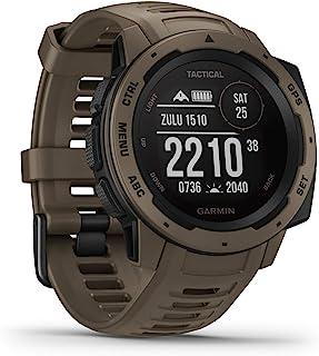 Garmin Instinct Tactical   robuste GPS Smartwatch mit taktischen Funktionen. US Militärstandard und wasserdicht bis 10 ATM. Mit Sport /Fitnessfunktionen, Kompass und bis zu 14 Tagen Akkulaufzeit.