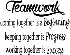 byyoursidedecal Teamwork Coming Together is a Beginning Keeping Together is Progress Working Together is Success Vinyl Wall Decal Art Quotes Inspirational Sayings 18