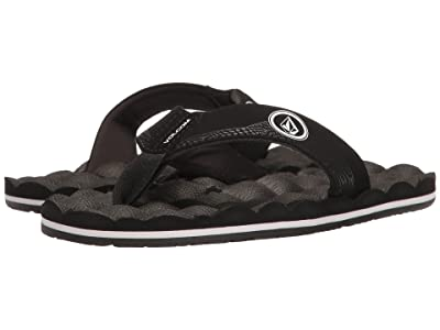 Volcom Kids Recliner (Little Kid/Big Kid) (Black/White) Boys Shoes
