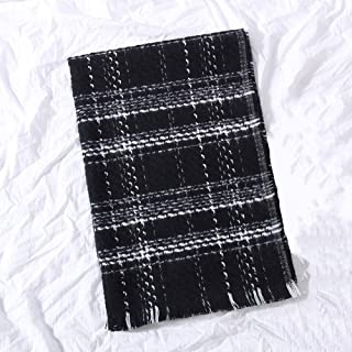 HZWLadies Scarf, Women Fashion Fall Winter Scarf Long Shawl Big Grid Neckerchief Pure Natural to Any Outfit Length200cm Width70cm(A Variety of Styles),C