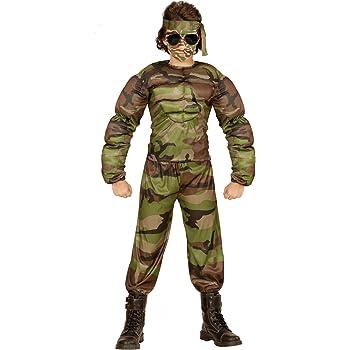 WIDMANN Disfraz de Soldado musculoso para niño - 11-13 años ...
