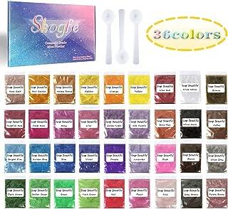 Mica Powder–Soap dye Soap Colorant for Bath Bomb Dye Colorant–Soap Making dye,36 Colors Soap Making Kit-Hand Soap Making Supplies–Resin Dye - Mica Powder Organic for Soap Molds–Makeup Dye