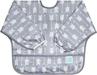 Bumkins Sleeved Baby Toddler Bib|Waterproof, Washable, Stain and Odor Resistant, 6 to 24 Mths+, Arrow