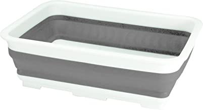 Seymour's 10126 Collapse-A Washing Up Bowl Rectangular, White and Grey