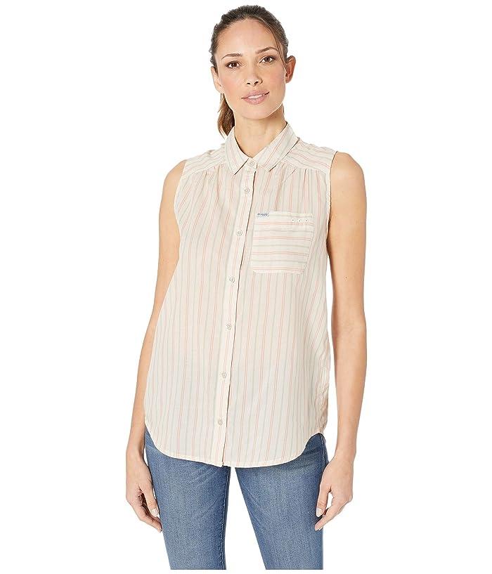 Columbia PFG Sun Driftertm II Sleeveless Shirt (Stone Stripe) Women