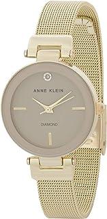 Anne Klein Womens Quartz Watch, Analog Display and Stainless Steel Strap AK-3034TNGB