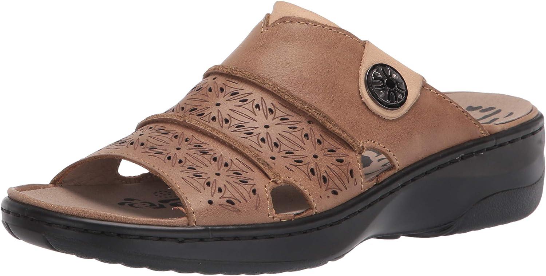 Propet Women's Gertie Slide Sandal, Beige, 11