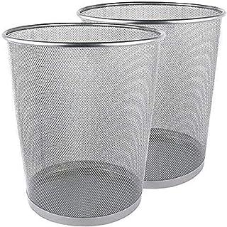 Poubelle de bureau ronde, corbeille à papier en maille métallique légère, poubelle, poubelles et poubelles pour chambre à ...