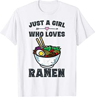 Funny Japanese Ramen Noodles Shirt Girls Anime Lovers Gifts