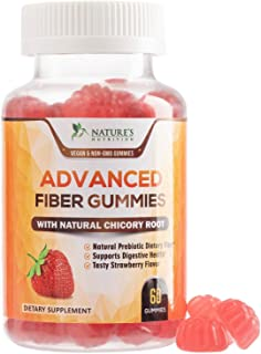 Fiber Gummies for Adults Extra Strength Inulin Gummy 300mg - Natural Dietary Fiber Supplement for Digestion & Natural Weig...