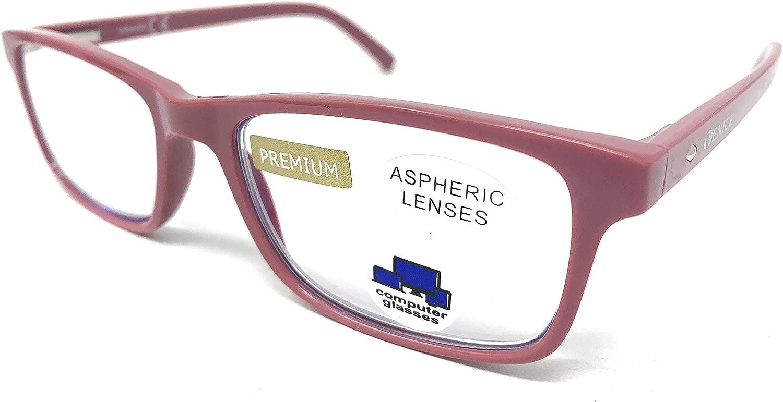 VENICE EYEWEAR OCCHIALI | Gafas ver de cerca, lectura con Filtro Luz Azul, Ordenador Gaming Móvil, Protección Antifatiga (1- 1,50 - 2 - 2,50 - 3 - 3,50) (Milky, Graduación +1,00)