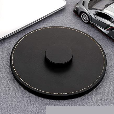 Leather Wireless Speaker Anti-skid Base Durable Protection Pad Black For Apple Homepod Stereo