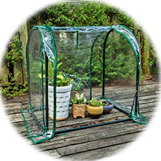 Small Greenhouse,Aluminum Foil Greenhouse Ensure Plants Avoid Cold Rain Wind Frost Apply to Outdoor Indoor (Color : Clear-...
