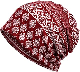 Luccy K Women's Cotton Beanie Lightweight Turban Slouchy Hat Cap
