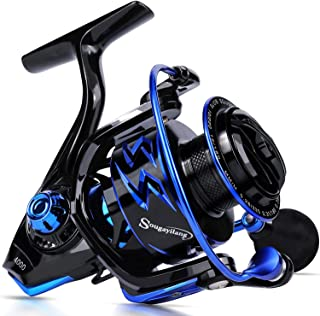 Sougayilang Spinning Reels Ultra-Weight, 6.2: 1 High Speed Gear Ratio, Metal Frame and Rotor, 12 + 1 Shielded BB, Smooth...