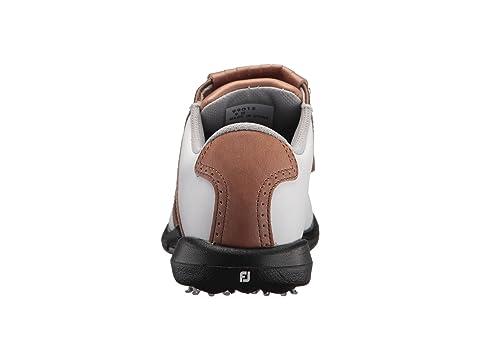 White Luggage tradicional Blucher DryJoys Cleated Brown Saddle Khaki FootJoy 1XqS0FWx