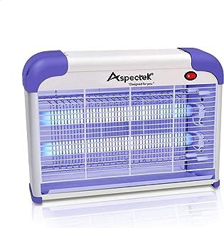 ASPECTEK Trampas Moscas,Matamoscas Electrico Raqueta, Lámpara Mata Insectos Electrico Mata Mosca...