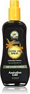 Australian Gold Dark Tanning Exotic Oil Spray, Carrot Extract Formula, 8 Fl Oz