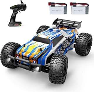 Holyton Remote Control Car 1:12 Scale RC Cars 45 KM/H High Speed 40min Play for Adults and Kids, 4WD Driving 2.4GHz Off Road Monster Truck Waterproof Vehicle, 2 Batteries Toys Gifts for Boys